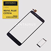 Touch Screen Replacement for T-Mobile Revvl Plus Coolpad C3701A LTE 6.0 inch Touch Screen Digitizer Panel Replacement Part (NO LCD - Black)
