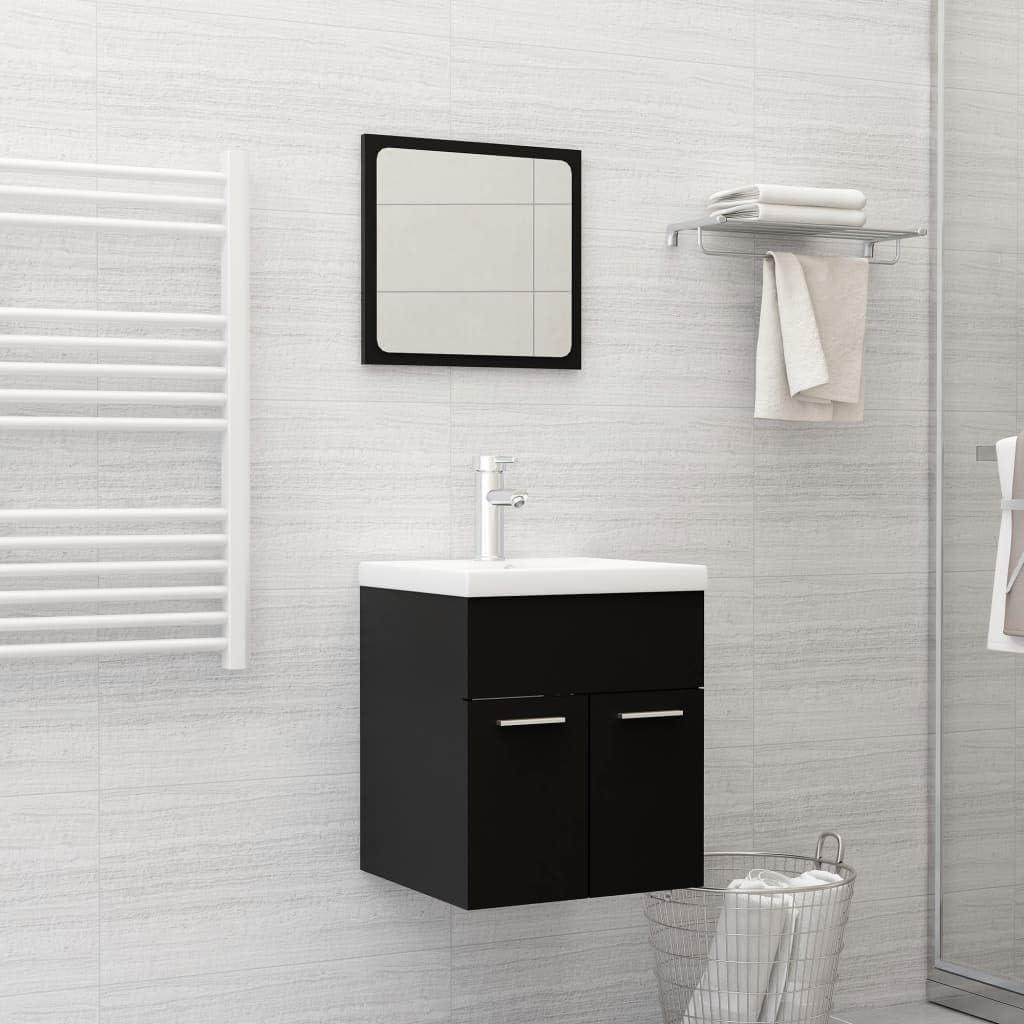 2 Piece Bathroom Furniture Set New mail San Antonio Mall order Chipboard Black