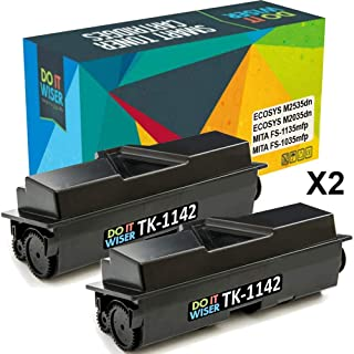 Do it Wiser Compatible Toner Cartridge Replacement for TK-1142 TK1142 Kyocera ECOSYS M2535dn M2035dn FS-1135mfp FS-1035mfp (7,200 Pages) 2-Pack