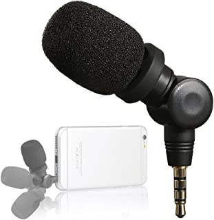 Saramonic Mini SmartMic Directional Condenser Flexible Microphone for Smartphones,Vlogging Microphone for iPhone and YouTube Video, Mic for iOS Apple iPhone 7 7s 8 x Plus 6 6s iPad and Android Phone