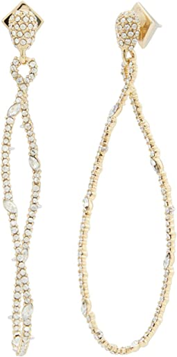 Twisted Linear Pave Post Earrings