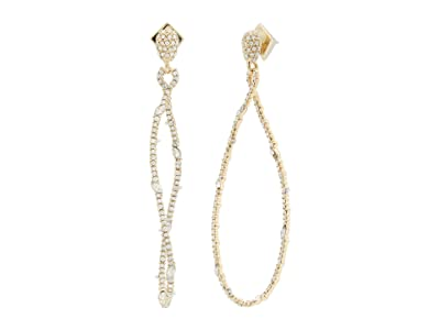 Alexis Bittar Twisted Linear Pave Post Earrings (Clear Crystal) Earring