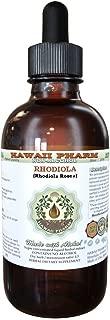 Rhodiola Alcohol-FREE Liquid Extract, Organic Rhodiola (Rhodiola Rosea) Dried Root Glycerite Natural Herbal Supplement, Hawaii Pharm, USA 2 fl.oz