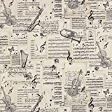 Fabulous Fabrics Halbpanama natur, Sonstige Motive, 140cm