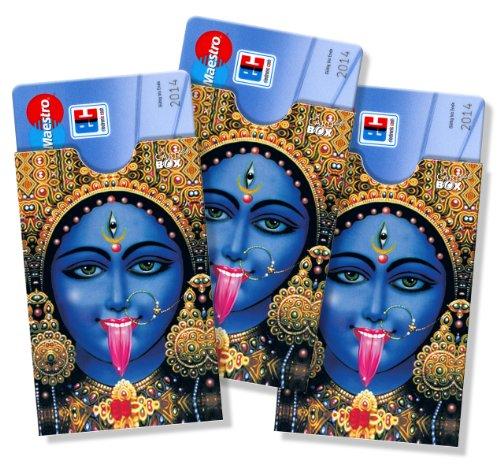 cardbox Motiv: Kali/Indische Göttin /// 3er Set /// Kartenhüllen für Esoterikfans