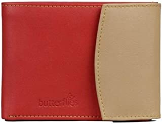 Butterflies Red & Beige Synthetic Women's Wallet (BNS 2044)