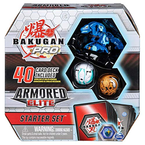 Bakugan Pro Armored Elite Starter Set with Trox Ultra, Nillious, Pharol, 40-Card Deck, and More