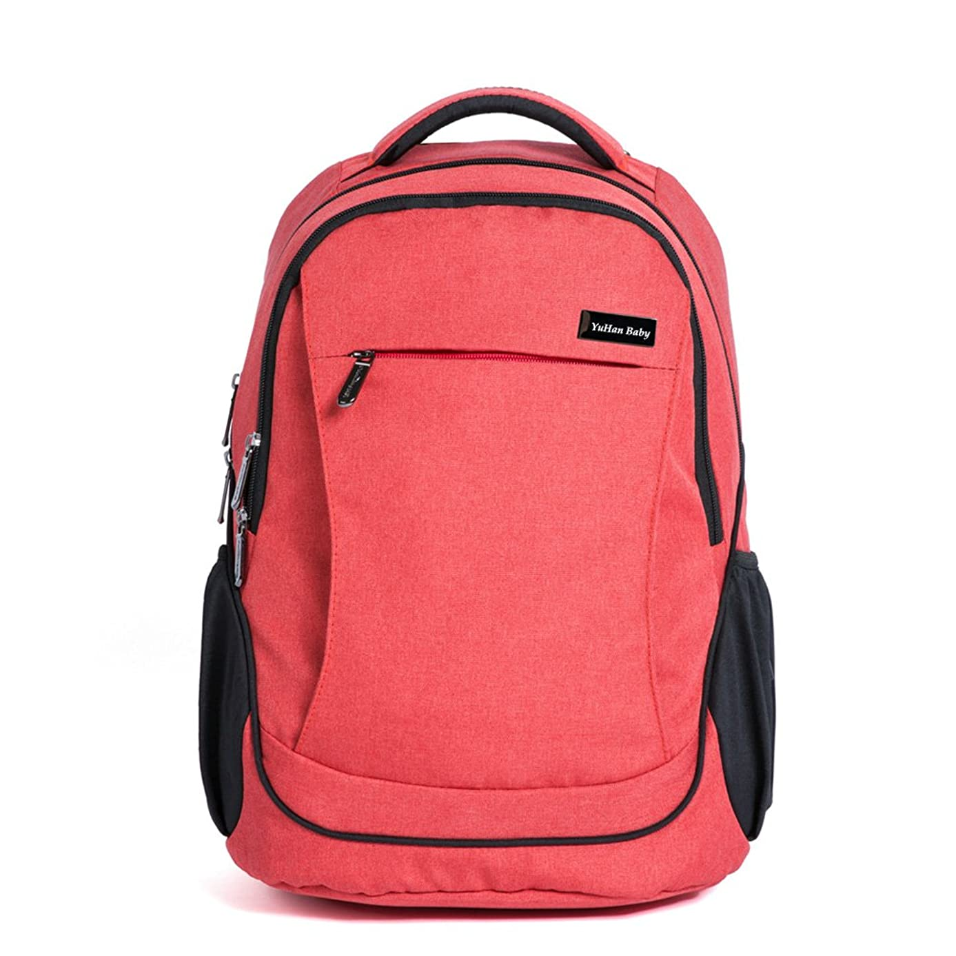YuHan Oxford Baby Diaper Bag Backpack Diaper Pad Insulation Bag Fit Stroller (Orange)
