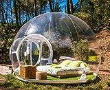 SHIJING Aufblasbares Blasenzelt Spielzeugzelt Outdoor Camping DIY Haus Kuppel Camping Lodge...