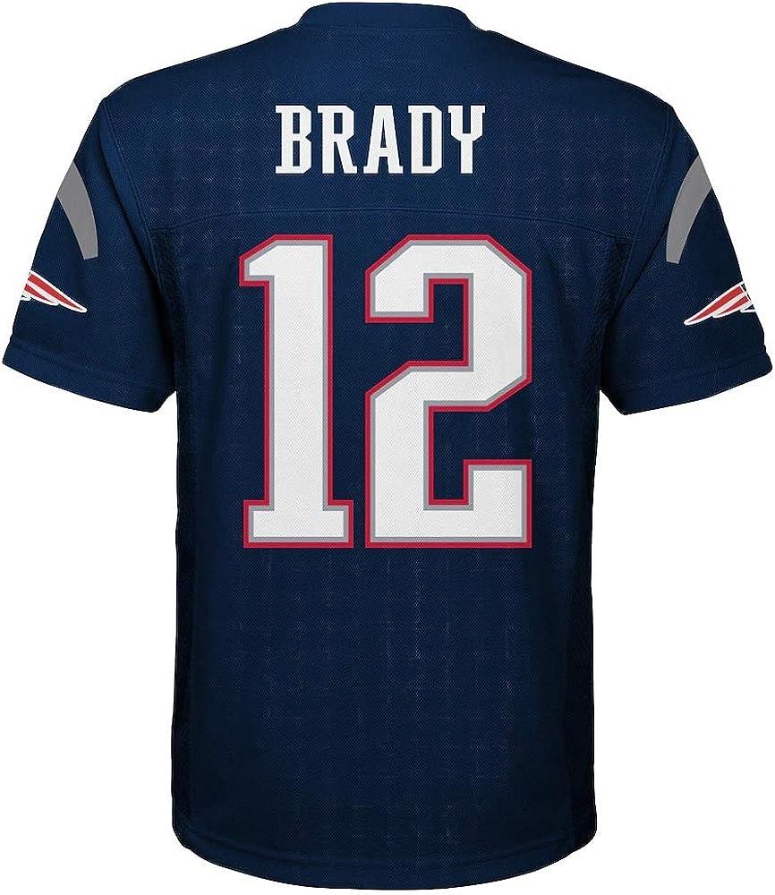 Tom Brady New England Patriots NFL Boys Youth 8-20 Navy Home Mid-Tier Jersey