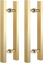 Schuur Douche Glijdende Glazen Deurklink Moderne Stijl Commerciële Push Pull Vierkante Buis Vorm Entry Deurgreep Chroom Ro...