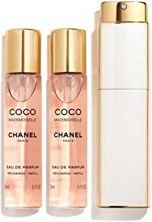 NIB C H A N E L Coco Mademoiselle Eau De Parfum Twist And Spray 3 x 0.7 oz./ 21 mL + Free sample gift ONLY from Xpressurself