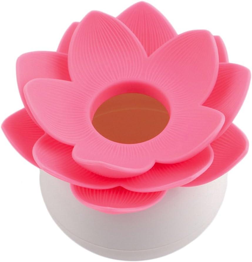 TOPSALE Chaud Porte-Bourgeon Chic en Coton de Fleur de Lotus Trousse de Cure-Dents Boite de Coton-Tige Decor a la Maison Rose