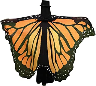 GRACIN Halloween Butterfly Wings Shawl, Soft Fabric Fairy Pixie Monarch Costume Cape