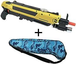 DOOK Pistola de Sal Matar a la Mosca de la Sal del Mosquito Pistola de la Juguete para Adultos Pistola de Mosquitos Cazador de Moscas Artefacto Infrarrojo apuntando - Amarillo