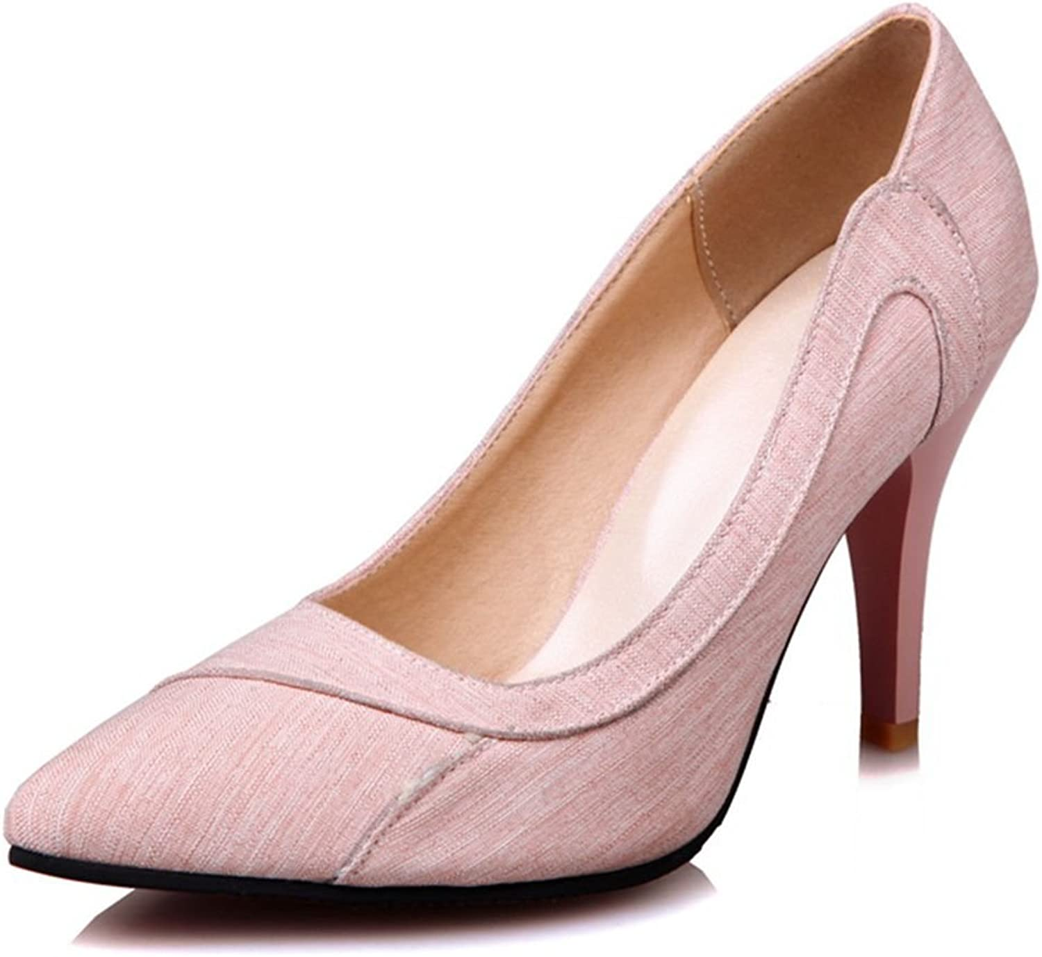 DecoStain Women's Pointed Toe High Heels Pumps Work Office shoes