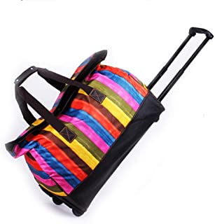 Wheeled Hand Baggage Holiday Weekend Bags Trolley Handbag (Color : E, Size : 47×23×45cm)