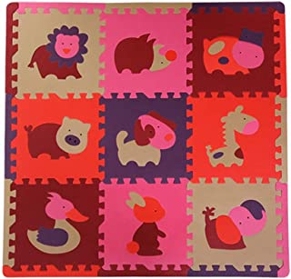 GUORRUI Foam Puzzle Mat Infant Crawling Mat PE Foam Non-slip Mat Waterproof Impervious Baby Game Pad Kindergarten (Color :...