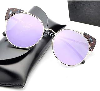 KMCMYBANG Dama Gafas de Sol, Gafas de Sol multifuncionales clásicas Retro polarizadas para pretección UV para Mujeres Gafas de Sol de Mujer, (Color : Púrpura)