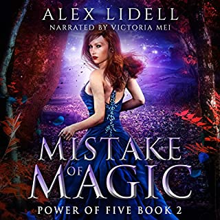 Mistake of Magic: Reverse Harem Fantasy     Power of Five Series, Book 2              Written by:                                                                                                                                 Alex Lidell                               Narrated by:                                                                                                                                 Victoria Mei                      Length: 5 hrs and 19 mins     11 ratings     Overall 4.7