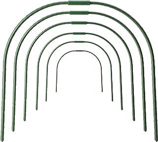 SLDHFE Lot de 6 cerceaux de serre, 52 x 50 cm, arceaux de jardin avec 6 boucles, tunnels de culture, cadre de support de j...