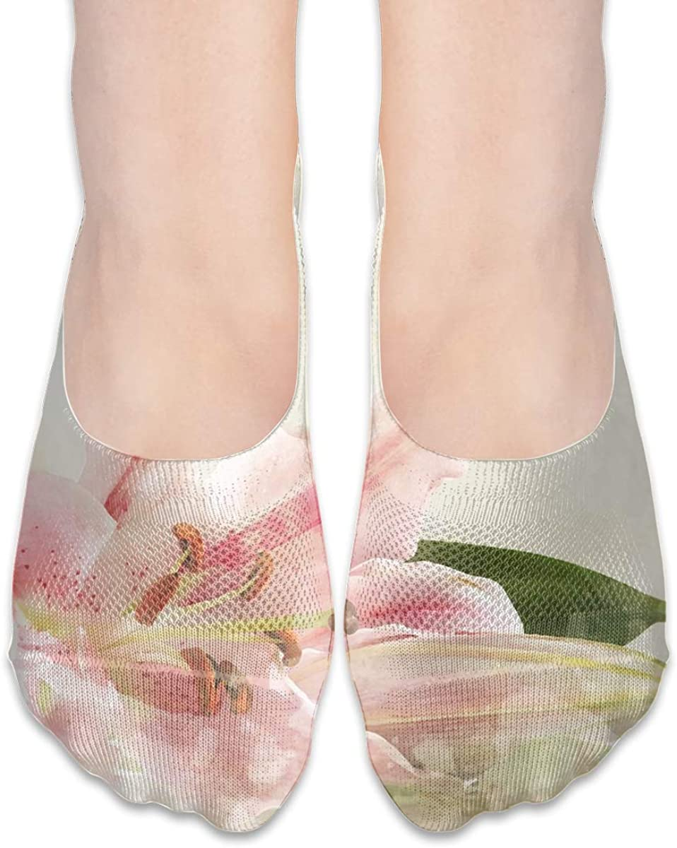 No Show Socks Women Men For Watercolor Floral Flowers Flats Cotton Ultra Low Cut Liner Socks Non Slip