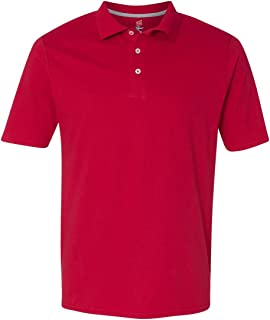 Hanes X-Temp Men`s Sportshirt, 42X0, L, Deep Red