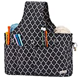 NICOGENA Knitting Bag with Drawcord Closure, Large Capacity Portable Yarn Storage Tote for Yarn Skeins and Accessories Tangle Free with 3 Oversized Grommets, Lantern Black