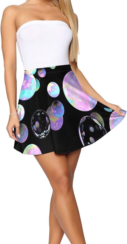 Floral Skulls Women's Skater Skirt Sexy Short Skirt