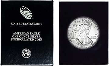 2011 - American Silver Eagle in Plastic Air Tite and Blue Gift Box with our Certificate of Authenticity Dollar Uncirculated Us Mint