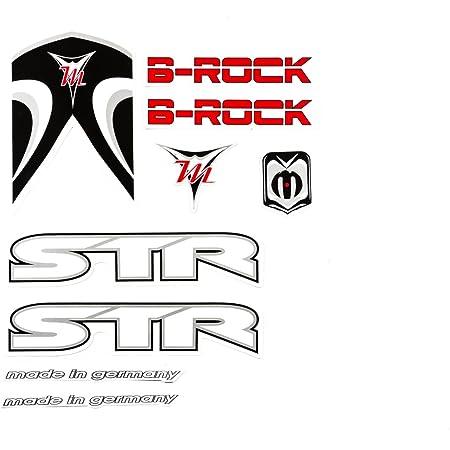Fahrrad Dekor Satz Aufkleber Rahmen Frame Decal Sticker Str B Rock Weiß Schwarz Rot Sport Freizeit