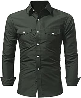 Boomboom Men's Long Sleeves Button Down Formal Shirts