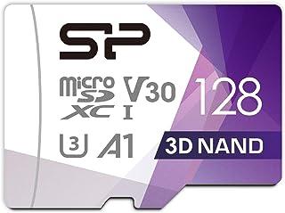 シリコンパワー microSD カード 128GB class10 UHS-1 U3 対応 最大読込100MB/s アダプタ付 3D Nand 2019年モデル 【Amazon.co.jp限定】