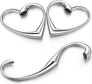 2 Pieces Purse Hook for Desk Heart Shape Purse Hanger for Tables Women's Handbag Hangers Foldable Swivel Table Storage Hoo...