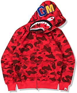 Hot Bathing Ape Bape Shark Jaw Men/'s Sweats Coat Jacket Camo Full Zipper Hoodie