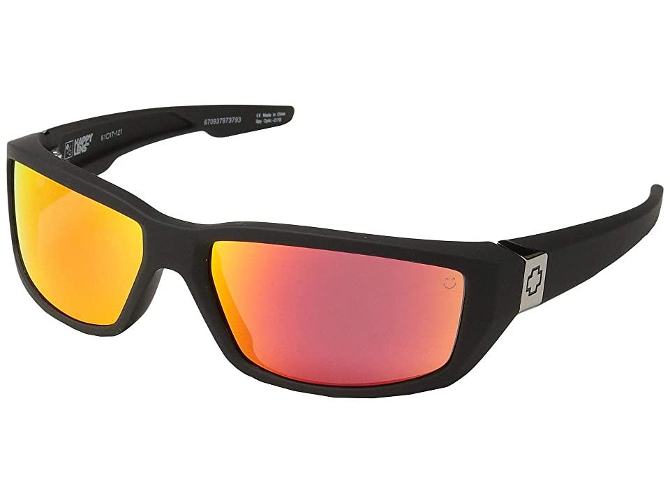 Spy Optic Dirty Mo (Soft Matte Black/Happy Rose/Red Spectra Mirror) Sport Sunglasses