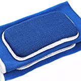 Generic 1 Pair Knee Pads Fitness Leg Support Protector Volleyball Padding Wraps-Blue