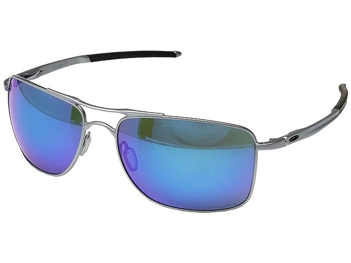 Oakley Gauge 8 (Matte Lead/Prizm Sapphire 1) Sport Sunglasses