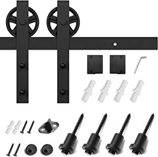 SMARTSTANDARD 5ft Heavy Duty Sturdy Sliding Barn Door Hardware Kit -Smoothly and Quietly -Easy to Install -Includes Step-by-Step Installation Instruction Fit 30