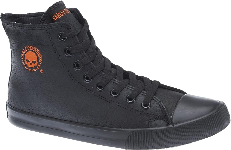 Harley-Davidson Baxter nero arancia Mens Trainers 46 EU