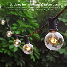 Binval Globe String Lights G40 String Lights UL Listed Patio Lights for Indoor Outdoor Commercial Decoration 25Ft with 27 Clear Bulbs for Party Wedding Garden Backyard Deck Yard Pergola Gazebo Black