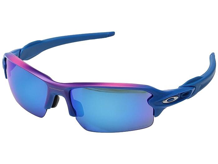 Oakley (A) Flak 2.0 (Factory Fade/Prizm Sapphire) Sport Sunglasses
