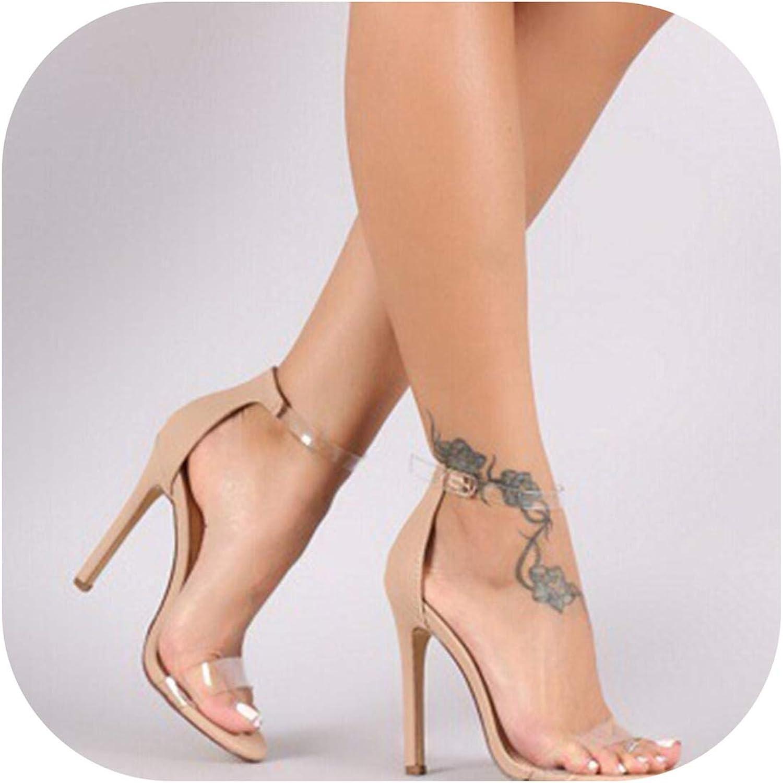 2019 PVC Women Platform Sandals Clear High Heels Waterproof Female Transparent Peep Toe Wedding shoes