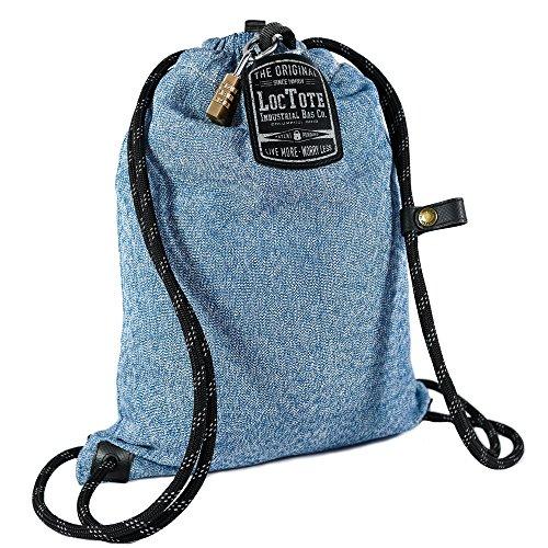 LOCTOTE Kordelzug Rucksack Einheitsgröße Denim Blue