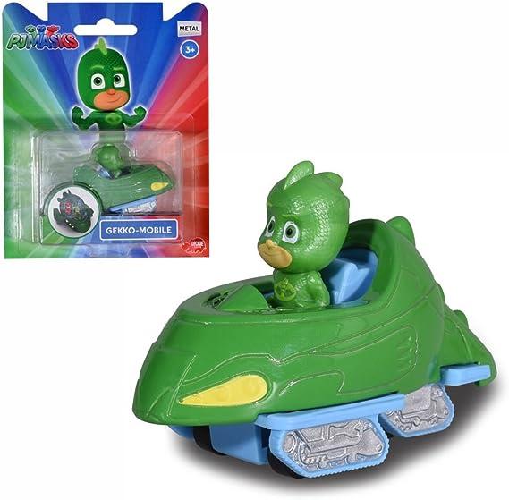 PJ Masks Selección Vehículos con Figura   Die Cast Dickie Toys, Figuras de Acción:Catboy