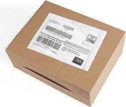 Metronic 100pack 7.5 x 5.5 Clear Self-Adhesive Packing List Envelopes for Invoice, Shipping Label Envelopes Pouches