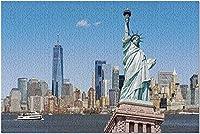 HDニューヨークシティ-自由の女神とシティスカイライン9027434(19x27の大人向けプレミアム1000ピースジグソーパズル)