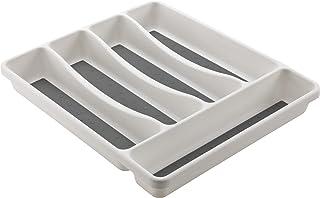 M-Home | Range Couverts pour Tiroir / 5 Compartiments | Plastique | Blanc | 31 x 27 x 4,5 cm | SPACE SYSTEM I | PLS261