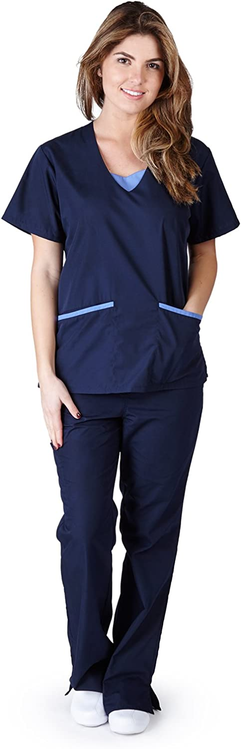 Gifts MM SCRUBS Max 84% OFF Women's Scrub Set Top Pants Medical and