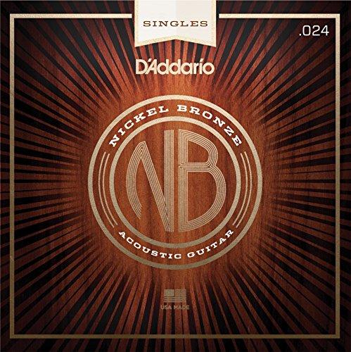 D'Addario NB024 Nickel Bronze Wound Acoustic Guitar Single String